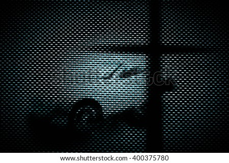 Double exposure the cross with car,Faith belief and hope concept - stock photo