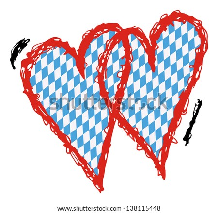 Double Heart Stock Images Royalty Free Images Vectors