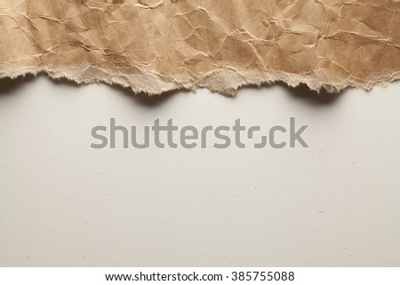 Double layered background of recycled paper