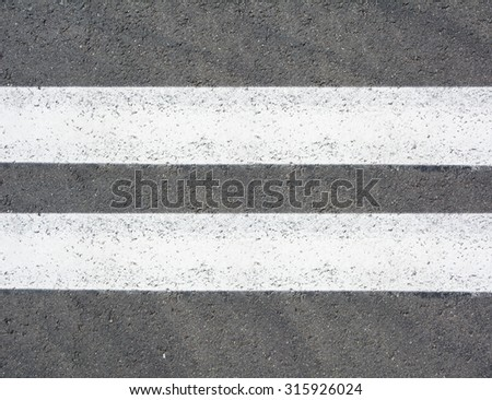 Double lines asphalt road background / seamless close up tile texture material - stock photo
