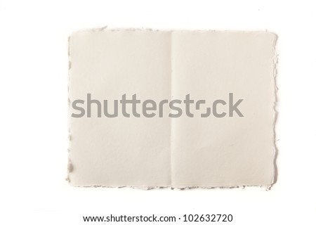 double page of paper - stock photo