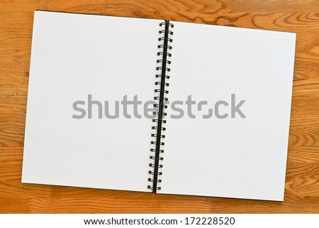 Double page spread blank ring binder with copy space. Great surround . - stock photo