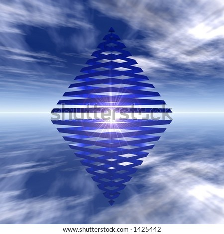 double pyramid - stock photo