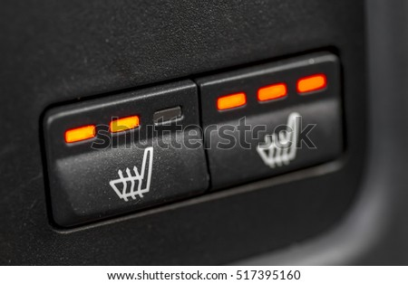 Double seat heating switch in a car