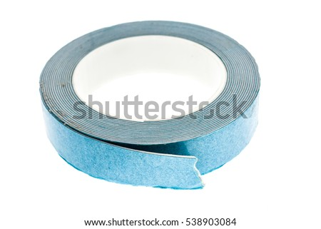 double sided foam adhesive mounting tape isolated on white background a roll of industrial
