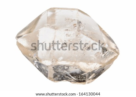 Double terminated clear quartz crystal - stock photo