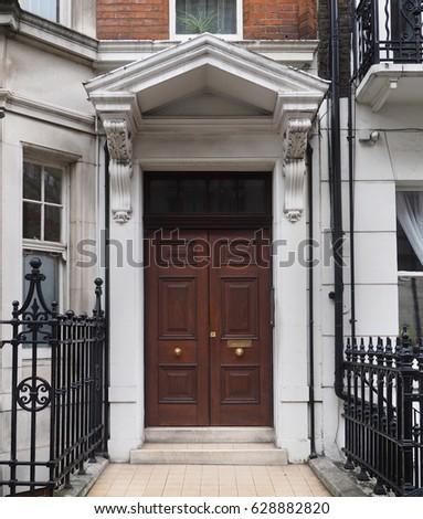 Apartment Building Door double doors stock images, royalty-free images & vectors