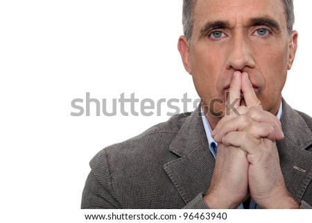 Doubtful man - stock photo