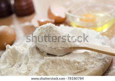 Dough border - stock photo