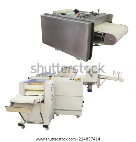 dough forming machine under the white background