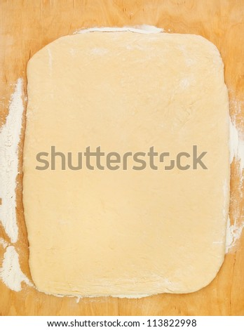 dough on a desk wooden - stock photo