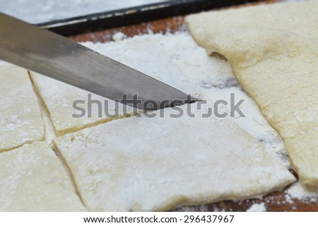 dough on the white background