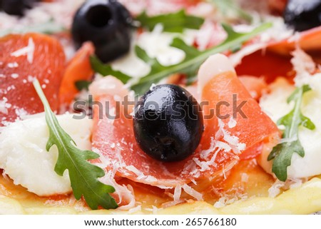 Dough pizza with ingredient.selective focus - stock photo