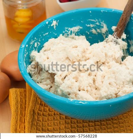 Dough Preparation for Homebaking - stock photo