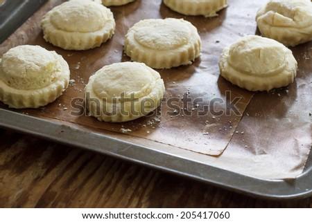 dough scone for bake - stock photo