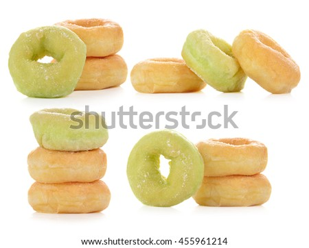 Doughnut isolated on white background - stock photo