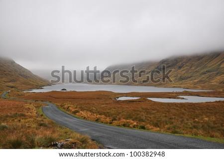 Doulough Valley, Famine Road, Co. Mayo, Ireland - stock photo