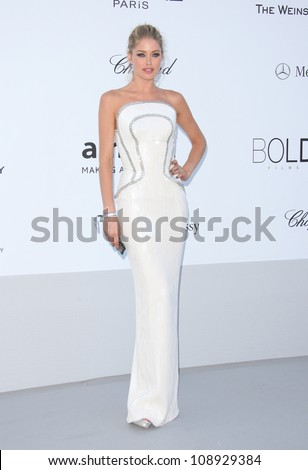 Doutzen Kroes arriving for AmfAR's Cinema Against Aids gala 2012 during the 65th annual Cannes Film Festival Cannes, France - 24.05.12 Henry Harris - stock photo