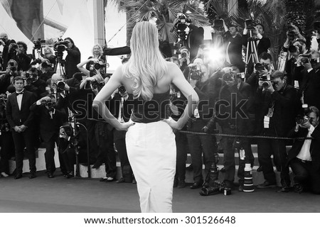 Doutzen Kroes  attends the 'Sicario' premiere during the 68th annual Cannes Film Festival on May 19, 2015 in Cannes, France. - stock photo