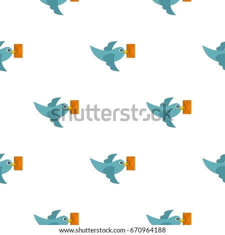 Dove carrying envelope pattern seamless flat style for web  illustration