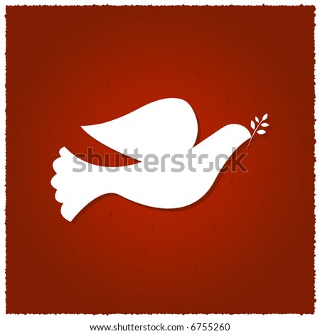 Dove of Peace Illustration - stock photo