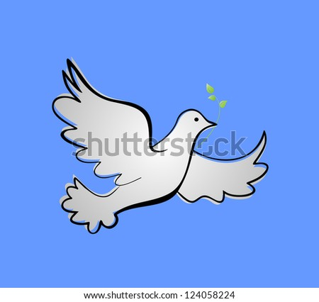 Dove of peace. Raster copy of vector image - stock photo