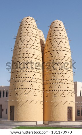 Dovecotes at Katara village, Qatar - stock photo