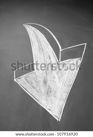 down arrow - stock photo
