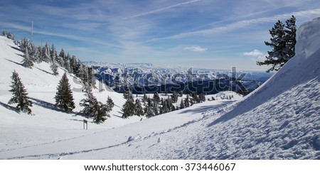 Downhill skiing in Boise, Idaho