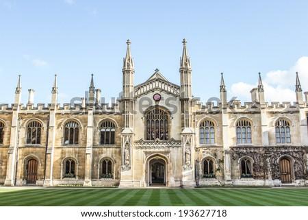 Downing College Facade, Cambridge, United Kingdom - stock photo