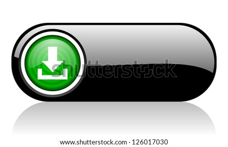 download black and green web icon on white background
