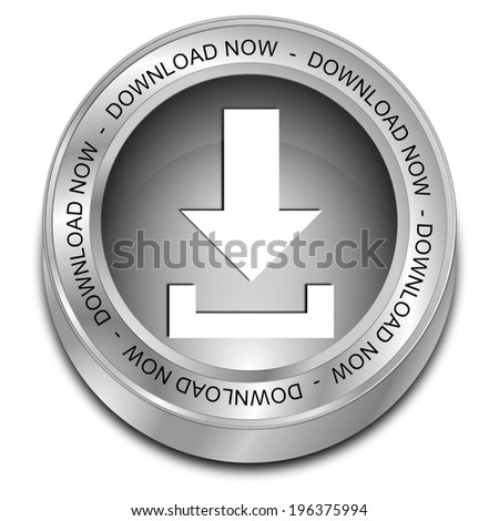 Download button - stock photo
