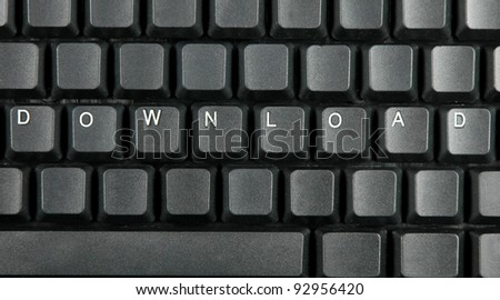 DOWNLOAD concept on computer keyboard
