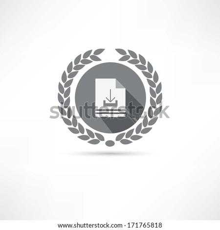 download icon - stock photo
