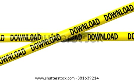 download tape - isolated  - stock photo