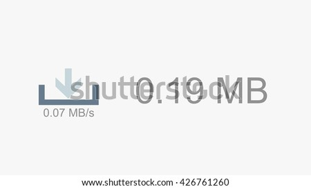Downloading Online Content on Slow Internet Connection Illustration - stock photo