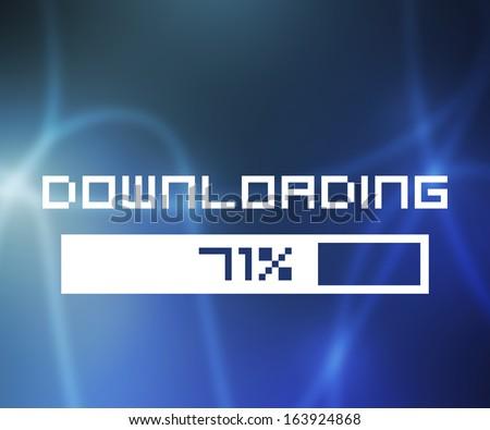 Downloading Screen - stock photo