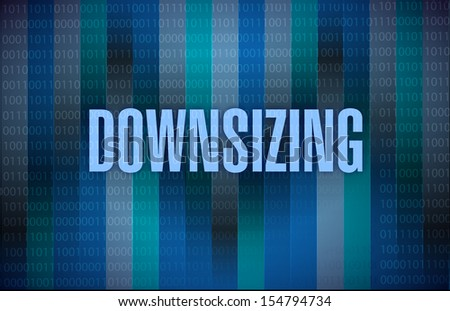 downsizing text on a binary background. illustration design