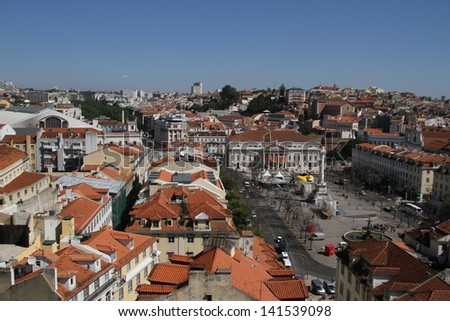Downtown area of Lisbon, Portugal