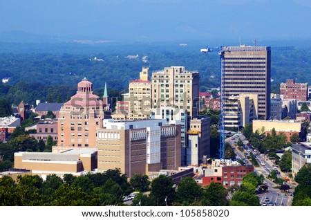 Downtown Asheville, North Carolina's - stock photo