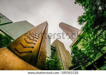 Downtown Atlanta, Georgia USA skyline - stock photo
