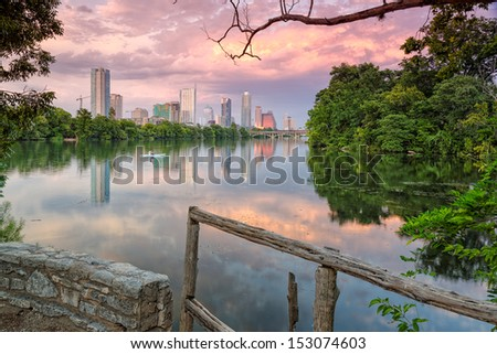 Downtown Austin from Lou Neff Point