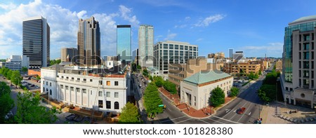 downtown birmingham, alabama, usa - stock photo