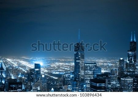 Downtown Chicago - stock photo