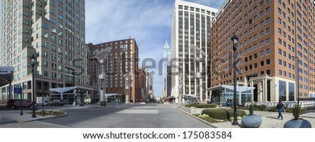 downtown city center of raleigh north carolina - stock photo