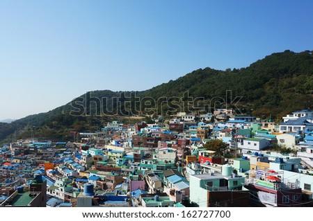 Downtown cityscape of Busan, South Korea                                 - stock photo