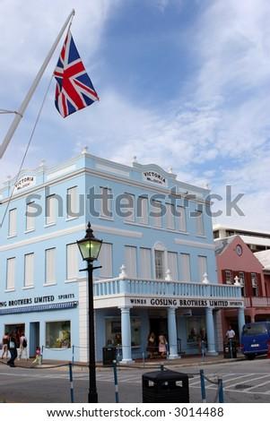 Downtown Hamilton, Bermuda - stock photo