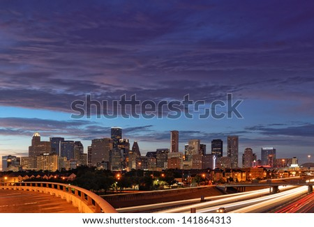 Downtown Houston from Chenevert and 288