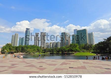 Downtown in KLCC district  ,Kuala Lumpur - stock photo