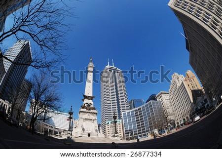 downtown Indianapolis - stock photo